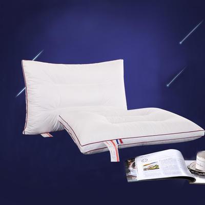 全棉防羽布定型保健枕芯羽丝绒护颈椎枕头(含儿童款) 儿童款(红边)