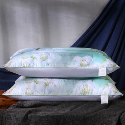 磨毛印花茉莉花薰衣草决明子保健护颈枕芯安睡枕头 茉莉花促销枕