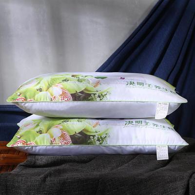 磨毛印花茉莉花薰衣草决明子保健护颈枕芯安睡枕头 决明子促销枕