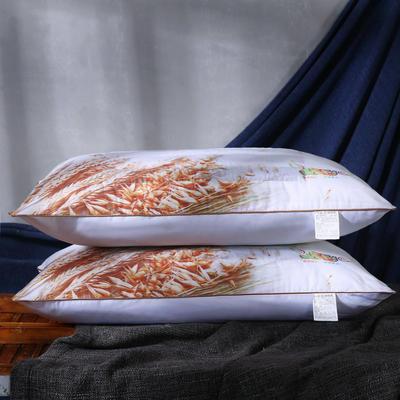 磨毛印花薰衣草茉莉花决明子保健护颈枕芯安睡枕头 荞麦促销枕