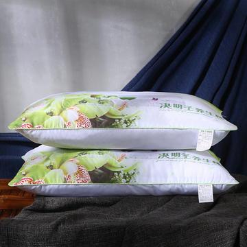 磨毛印花决明子薰衣草荞麦保健护颈枕芯安睡枕头