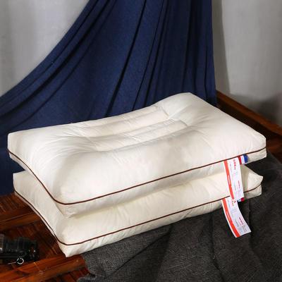 全棉决明子木棉双面透气护颈保健枕芯助眠枕头 米色决明子木棉保健枕