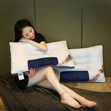 全棉决明子网面透气护颈保健枕芯助眠枕头