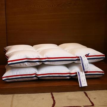 全棉酒店织带立体护颈枕芯六宫格定型枕头芯