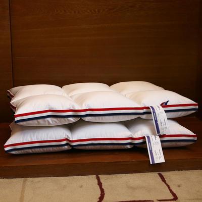 全棉酒店织带立体护颈枕芯六宫格定型枕头芯 全棉织带六宫格定型枕头