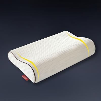 针织棉曲线记忆枕 50*30 空气层大提花护颈保健枕 针织(绗缝)曲线护颈记忆枕60*60
