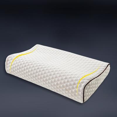 针织棉曲线记忆枕 50*30 空气层大提花护颈保健枕 针织(绗缝)曲线护颈记忆枕30*50