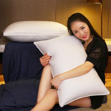 全棉超柔绗缝立体护颈枕芯五星级枕头保健护颈枕