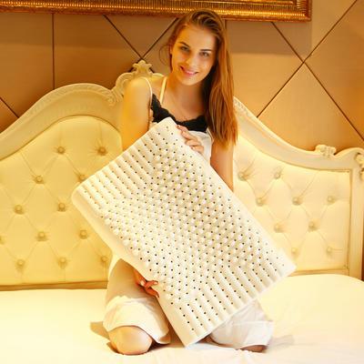 泰国进口天然乳胶枕芯护颈椎颗粒成人枕头(送内外套) 颗粒按摩乳胶枕(40*60成人款)