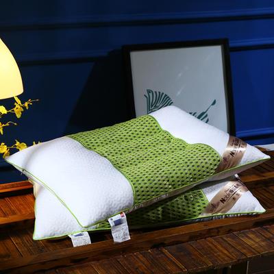 针织棉磁疗透气护颈保健枕芯安睡助眠枕头 绿色磁疗枕
