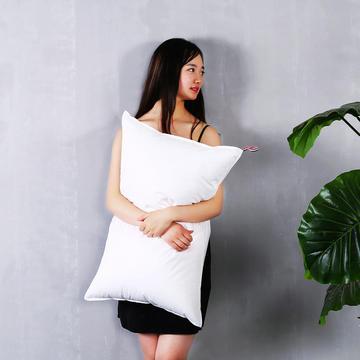 全棉贡缎简约双针护颈枕芯五星级枕头呵护舒适枕