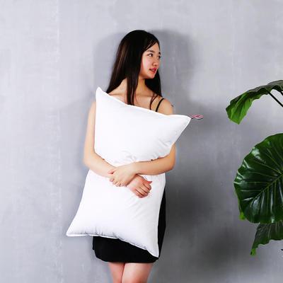 全棉贡缎简约双针护颈枕芯五星级枕头呵护舒适枕 全棉双针酒店枕