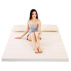 沃兰国际 泰国天然乳胶平面舒适床垫5cm10cm单双人送内外套 1.2m(4英尺)床 10CM厚度