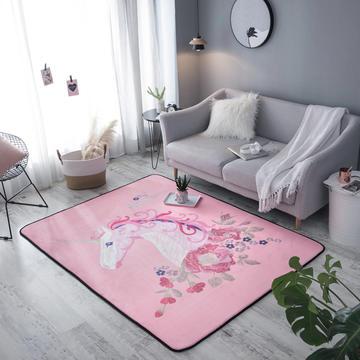 奕晨 潮牌北欧地毯卧室加厚地垫客厅茶几垫水晶绒面家用垫子
