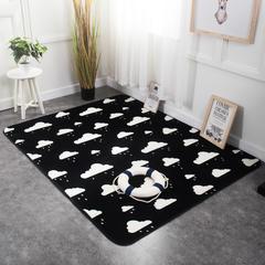 奕晨 法莱绒地垫北欧加厚卧室客厅茶几地毯飘窗垫可定制 80*185cm 云朵