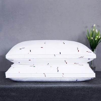 全棉英伦风贡缎印花护颈立体枕芯安睡助眠枕头 抽象印花