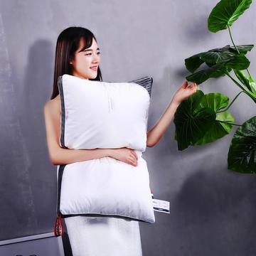 沃兰国际 全棉贡缎印花护颈立体枕芯安睡可水洗枕头