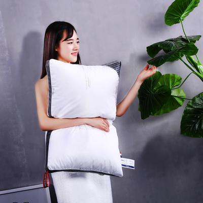 全棉贡缎印花护颈立体枕芯安睡可水洗枕头 全棉印花水洗枕