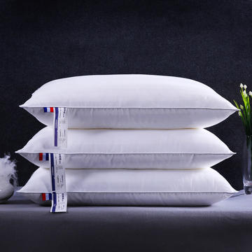 沃兰国际 全棉贡缎条纹可水洗护颈安睡枕芯简约枕头 可操作爆款