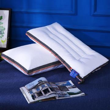 原创全棉星条旗织带可水洗护颈枕芯简约枕头(两款)