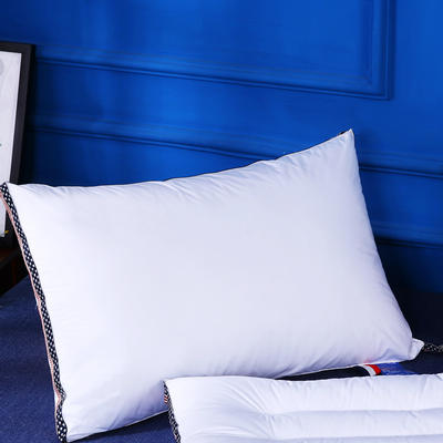 原创全棉星条旗织带可水洗护颈枕芯简约枕头(两款) 全棉星条旗(基础款)