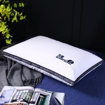 原创全棉织带刺绣酒店枕芯可水洗护颈抖音枕头单人枕
