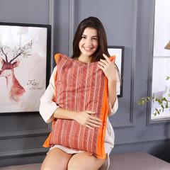全棉民族风老粗布荞麦枕头全荞麦壳枕芯护颈枕荞麦皮儿童硬枕 橙色
