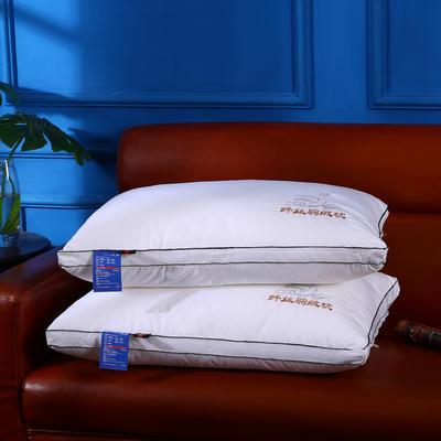 沃兰国际 原创全棉贡缎刺绣护颈立体枕芯安睡助眠枕头(绣鹅) 绣鹅全棉羽丝绒枕芯