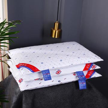 全棉印花荞麦枕头全荞麦壳枕芯护颈枕荞麦皮单人硬枕三色可选