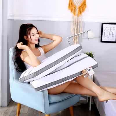 沃兰国际 新品全棉决明子长网透气安睡按摩枕芯助眠定型成人枕头 灰色