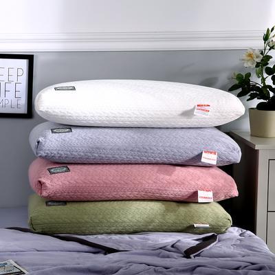 沃兰国际 超柔针织定型热熔棉可水洗枕芯护颈整张棉安睡成人枕头 豆沙色