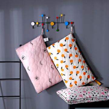 沃兰国际 超柔针织磨毛绗缝羽丝绒枕芯立体透气护颈枕头(爆款)