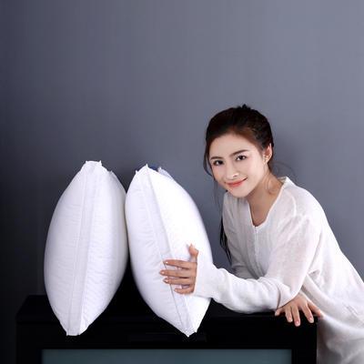 全棉酒店绗缝立体羽丝绒安睡枕芯护颈枕头(三款可选) 绗缝款