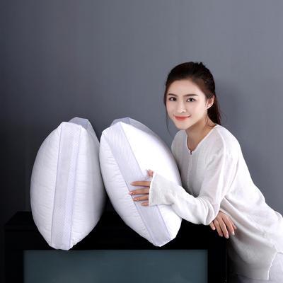 沃兰国际 全棉酒店绗缝立体羽丝绒安睡枕芯护颈枕头(三款可选) 绗缝加高款