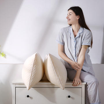 超柔针织泡泡水立方水洗枕芯安睡护颈枕头(三款可选)