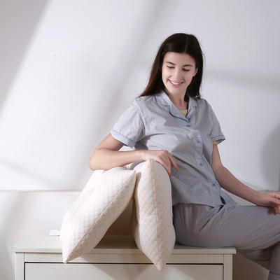 沃兰国际 超柔针织泡泡水立方水洗枕芯安睡护颈枕头(三款可选) 定型款