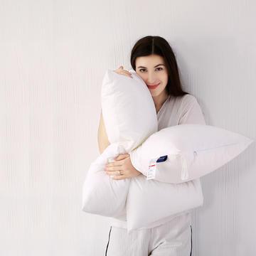 高端系列 全棉防羽布酒店羽丝绒枕头仪征棉简约成人护颈单人枕芯