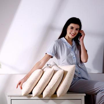 超柔针织棉碎乳胶枕头 乳胶颗粒儿童成人护颈单人枕芯(三规格)