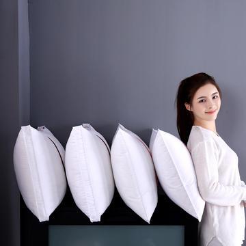 全棉贡缎酒店英伦织带枕芯可水洗护颈椎安睡舒适成人简约枕头