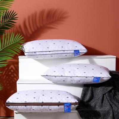 爆款推荐 超柔磨毛印花羽丝绒酒店枕芯护颈椎单人枕头(多规格可选) 皇冠低枕48*74cm 700克