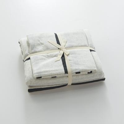 2020新款全棉针织大循环针织棉系列-单品床单 200cmx250cm床单 白黑宽条