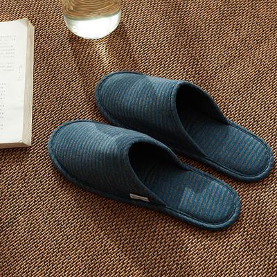 2020新款便携式家居旅行拖鞋 均码(一双) 麻灰蓝