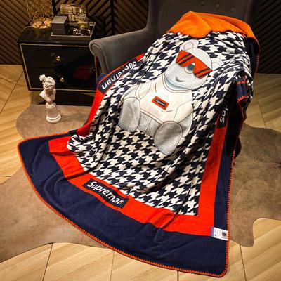 2021新款猫卡绒双层复合数码印花休闲毯盖毯 200*230cm 超级熊座