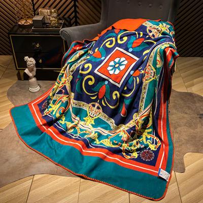 2021新款猫卡绒双层复合数码印花休闲毯盖毯 200*230cm 恋上布鲁克