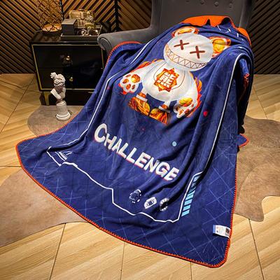 2021新款猫卡绒双层复合数码印花休闲毯盖毯 200*230cm 挑战者