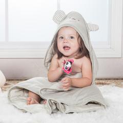 小熊有耳朵抱被 其它 彩棉棕色+小被子