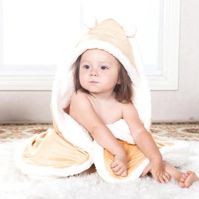 羊羔绒抱被 彩棉抱被 彩棉包被 招代理 80*80 100*100   500起批大货 其它 水晶绒-黄80*80cm