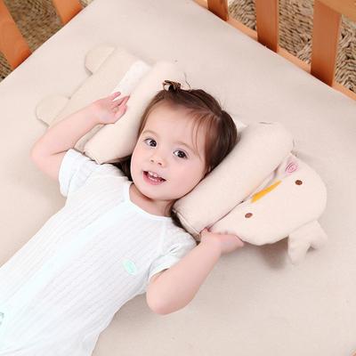 厂家直供 婴幼儿彩棉伸缩定型荞麦枕 新生儿卡通婴儿枕头