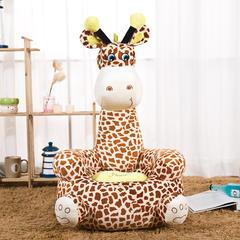 儿童沙发坐垫 黄色长颈鹿50*50*78+20