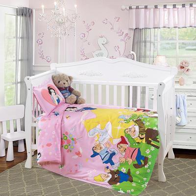 床上用品幼儿园卡通纯棉大版花型套件 儿童三件套诚招代理 套子+丝棉(薄款)被芯+丝棉垫芯+珍珠棉 公主之恋